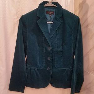 Talbot Teal Corduroy Blazer Jacket Size 2